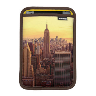 New York skyline city with Empire State iPad Mini Sleeve
