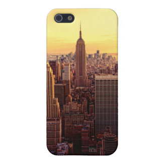 New York skyline city with Empire State iPhone 5/5S Cases