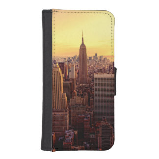 New York skyline city with Empire State iPhone SE/5/5s Wallet Case