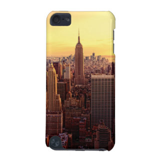 New York skyline city with Empire State iPod Touch 5G Cases