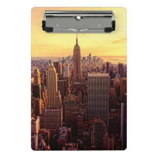 New York skyline city with Empire State Mini Clipboard