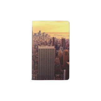 New York skyline city with Empire State Pocket Moleskine Notebook