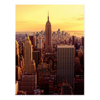 New York skyline city with Empire State Postcard