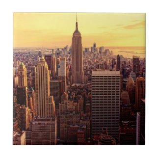 New York skyline city with Empire State Tile