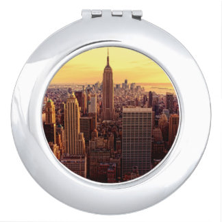 New York skyline city with Empire State Travel Mirror