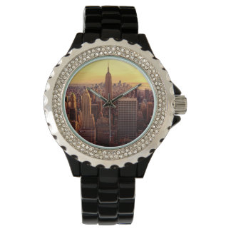 New York skyline city with Empire State Watch