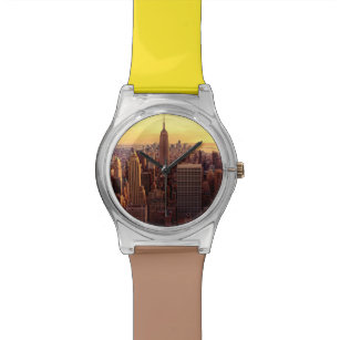 New York skyline city with Empire State Watch