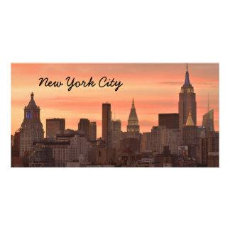 New York Skyline Customized Photo Card
