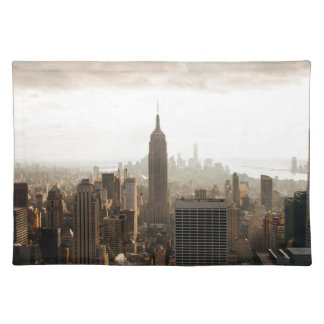 New York Skyline - dusk - grey Placemat