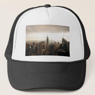 New York Skyline - dusk - grey Trucker Hat