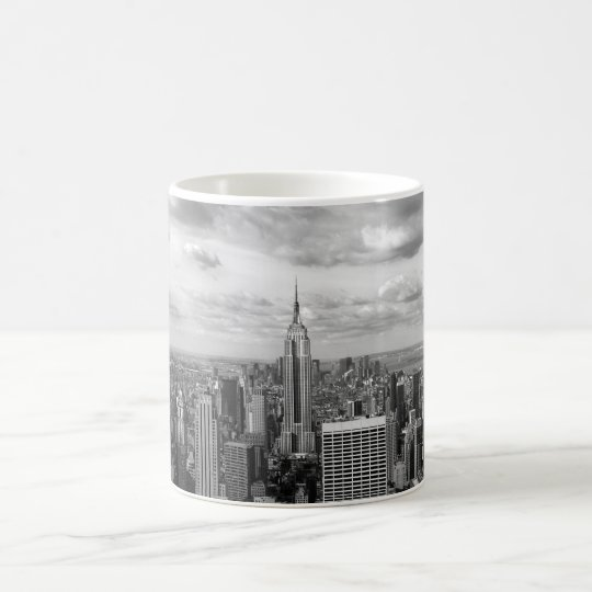 New York skyline in black and white Coffee