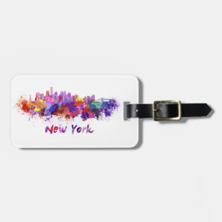 New York skyline in watercolor Luggage Tag