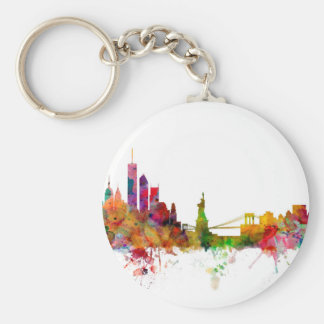 New York Skyline Keychain