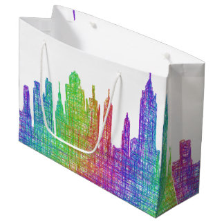 New York skyline Large Gift Bag