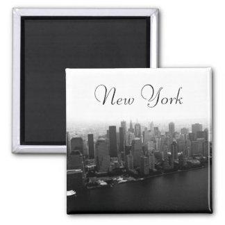 New York Skyline Square Magnet