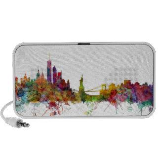 New York Skyline Notebook Speaker