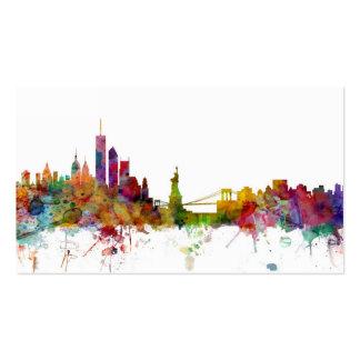 New York Skyline Pack Of Standard Business Cards