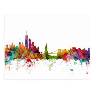 New York Skyline Postcard