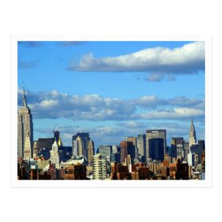 New York Skyline Postcard