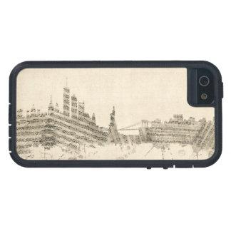 New York Skyline Sheet Music Cityscape iPhone 5 Covers