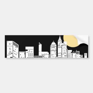 New York Skyline Silhouette Bumper Sticker