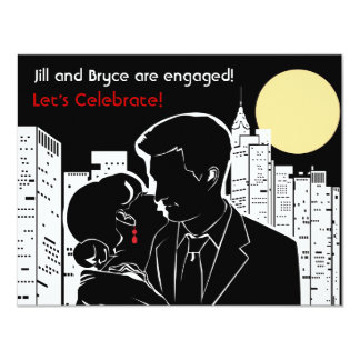 New York Skyline Silhouette Card
