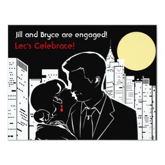 New York Skyline Silhouette 4.25x5.5 Paper Invitation Card