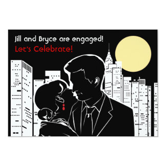 "New York Skyline Silhouette- Larger 5"" X 7"" Invitation Card"