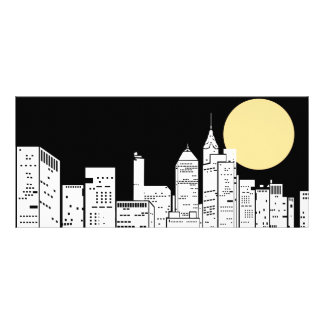 New York Skyline Silhouette Personalized Rack Card