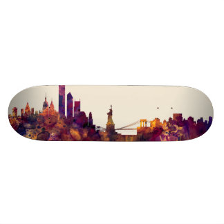 New York Skyline Skateboard Deck