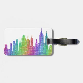 New York skyline Travel Bag Tags