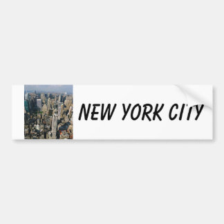 New York Skyline view from Empire State Building Bumper Sticker