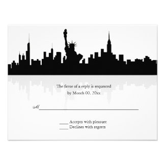 New York Skyline Wedding RSVP Announcements