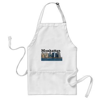 """New York skyline with """"Manhattan"""" in the sky above Adult Apron"""