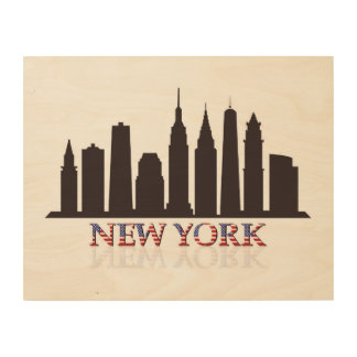 new york skyline wood wall decor