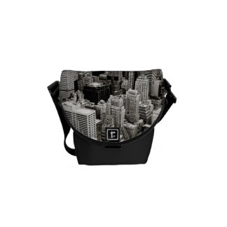 New York Skyscrapers From Above Courier Bag