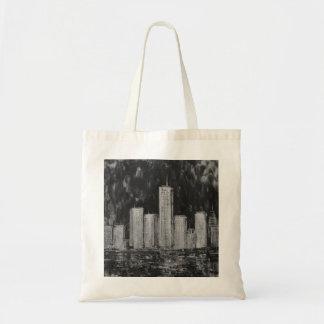 New York Skyscrapers in Oil Bag Budget Tote Bag
