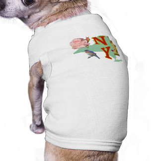 New York Sleeveless Dog Shirt