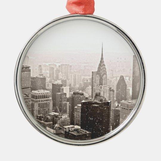 New York Snow Christmas Ornament