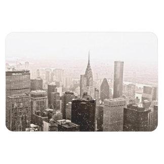 New York Snow Rectangular Photo Magnet