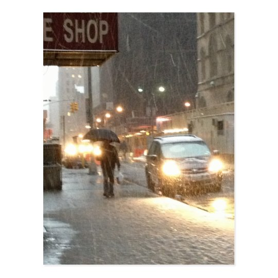 New York Snow Storm Postcard