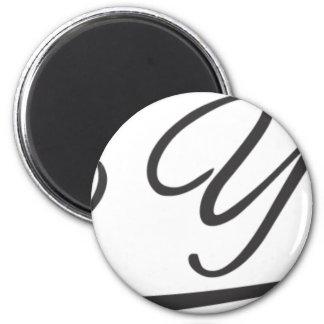 new york sporty style handwriting fridge magnet