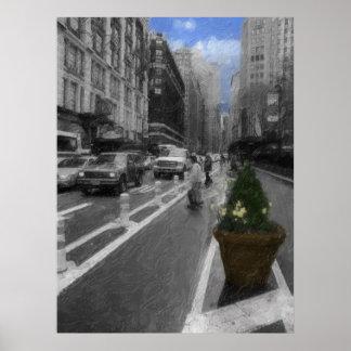 New York Spring Day Print