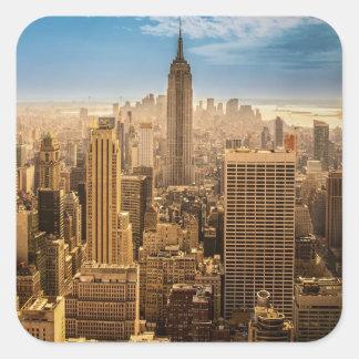 New York Square Sticker