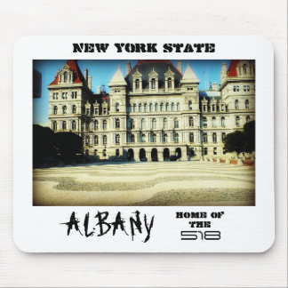 New York State Albany Home of the 518 Mousepad