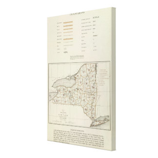 New York state atlas Gallery Wrapped Canvas