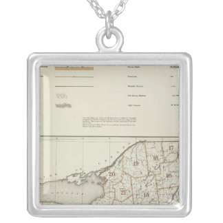 New York state atlas Silver Plated Necklace