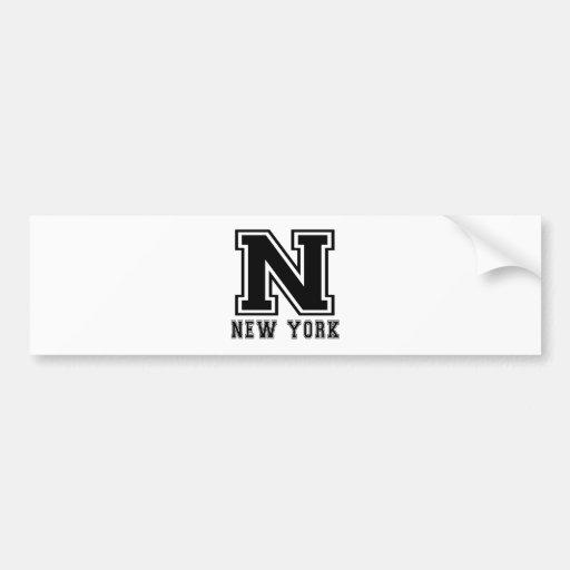 New York State Designs Bumper Stickers
