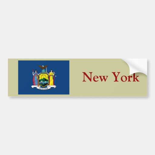 New York State Flag Bumper Stickers