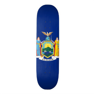 New York State Flag Custom Skate Board